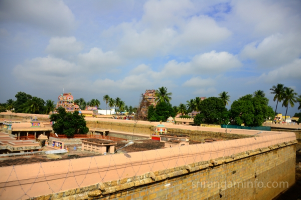 kumbabishekam Srirangam pinnacle view