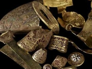 Gold ornaments, bngles staffs