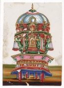 srirangam old painting temple car