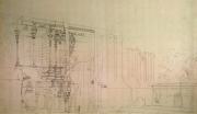 srirangam rajagopuram pencil sketch